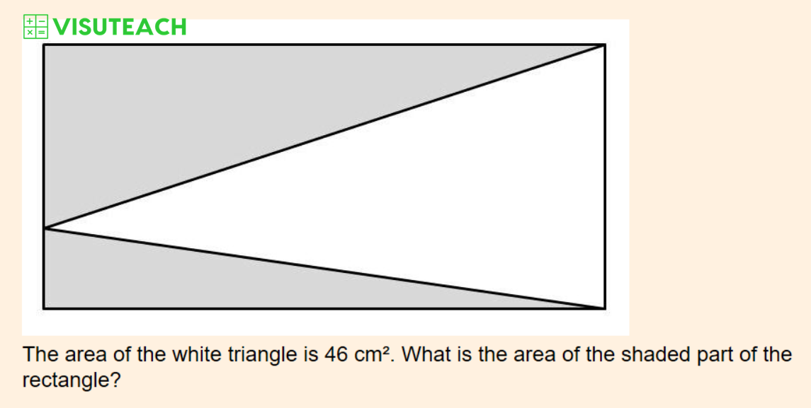 iseb common pre-test maths area triangle question