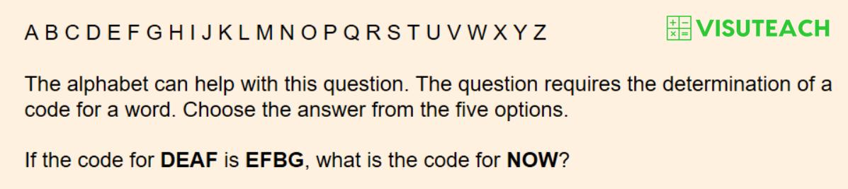 iseb common pre-test verbal reasoning question 1