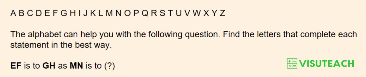 iseb common pre-test verbal reasoning question 3
