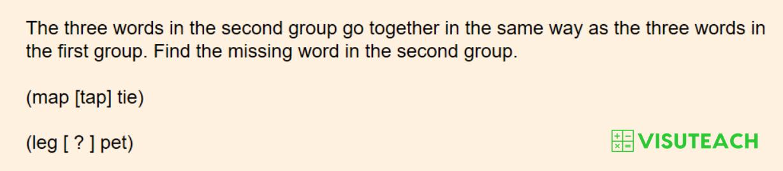 iseb common pre-test verbal reasoning question 4