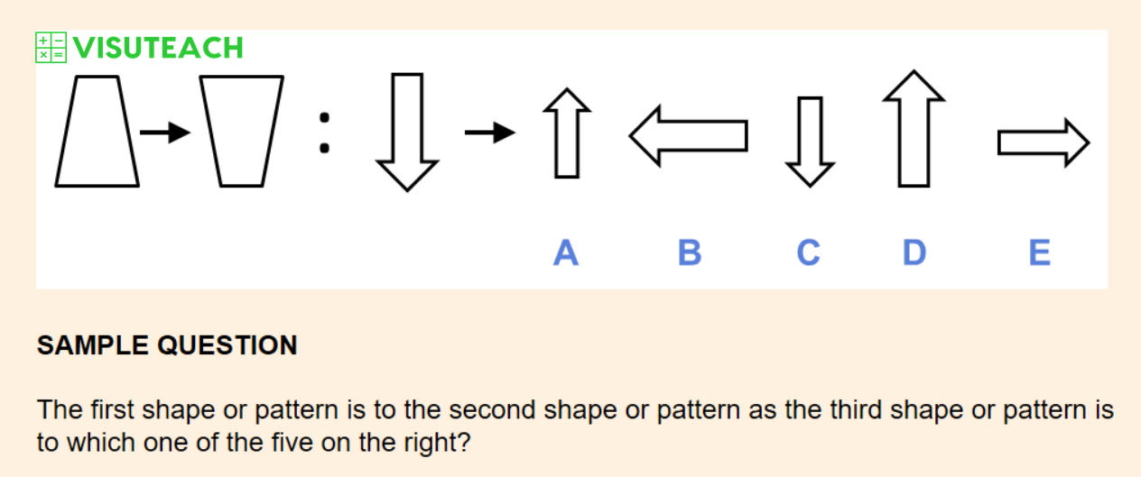 non-verbal reasoning iseb common pre-test question 1
