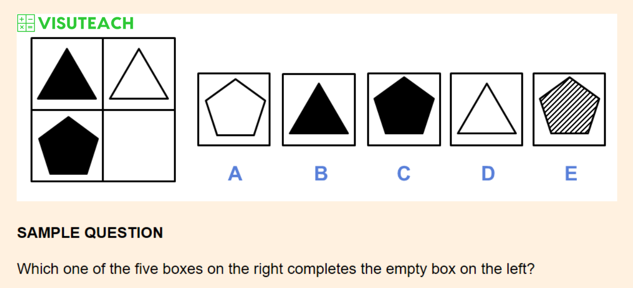 non-verbal reasoning iseb common pre-test question 3