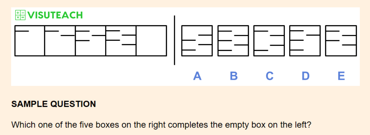 non-verbal reasoning iseb common pre-test question 5