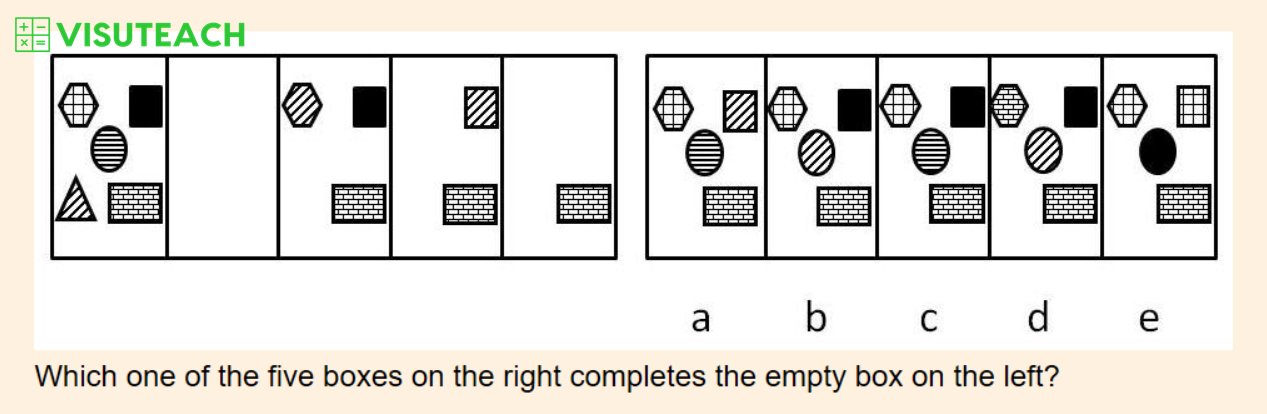 non-verbal reasoning iseb common pre-test question 6