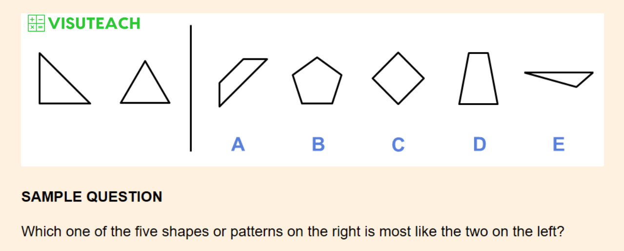 non-verbal reasoning iseb common pre-test question 9