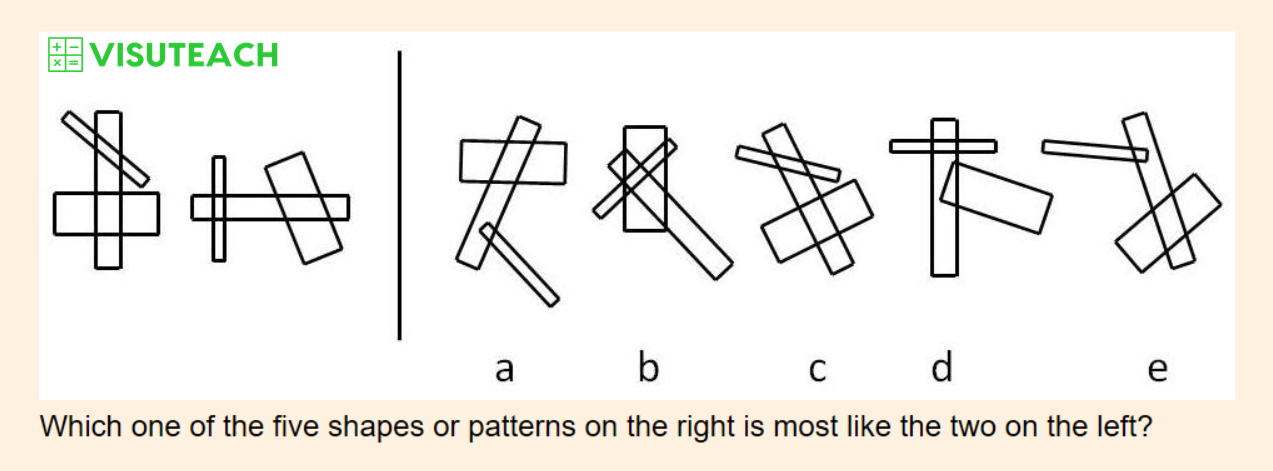 non-verbal reasoning iseb common pre-test question 10