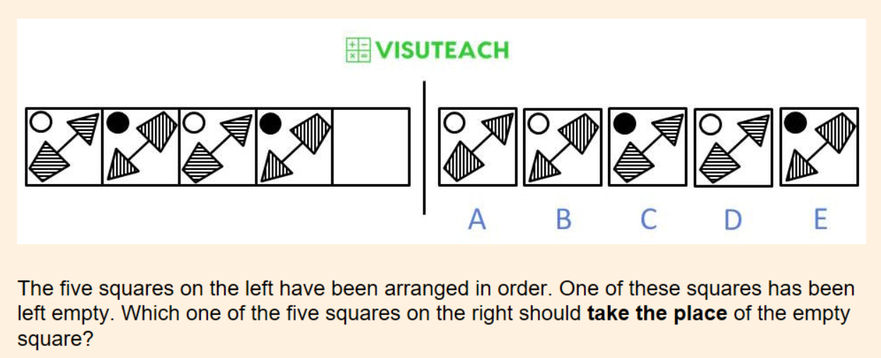 non-verbal reasoning iseb common pre-test question 13