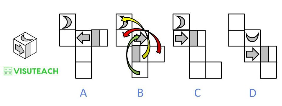 nets of cubes 11 plus spatial answer 4