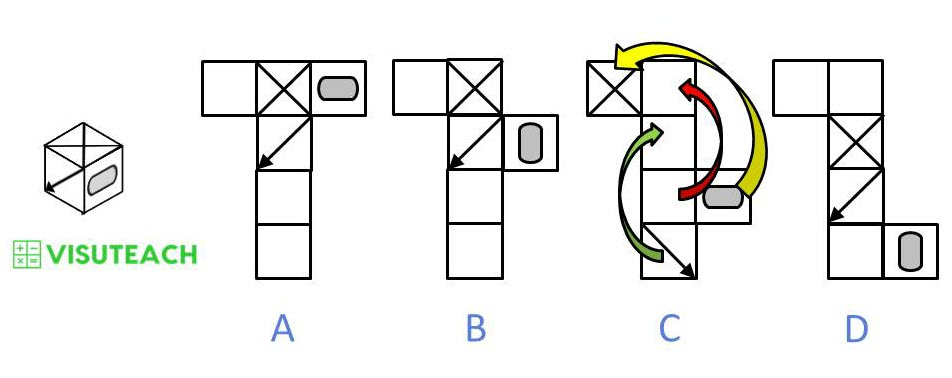 nets of cubes 11 plus spatial answer 5