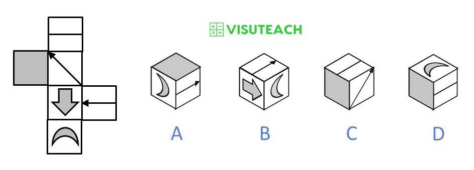 nets of cubes 11 plus question 1
