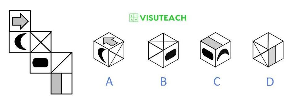 nets of cubes 11 plus question 2