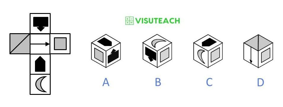 nets of cubes 11 plus question 3