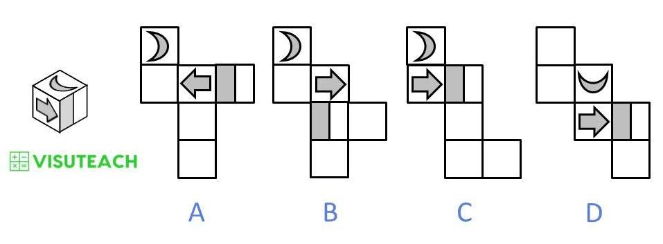 nets of cubes 11 plus question 4