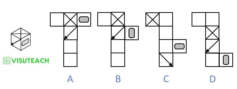 nets of cubes 11 plus question 5
